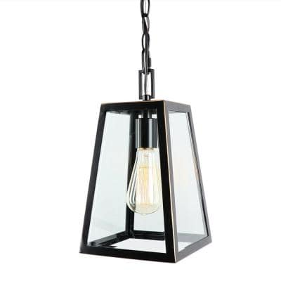 1 Light 13 in. Outdoor Hanging Lantern in Imperial Black
