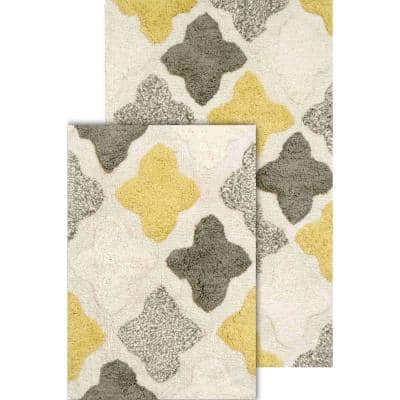 Alloy Moroccan Tiles Willow 21 in. x 34 in. 2-Piece Bath Rug Set