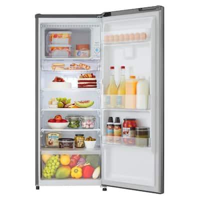 6.9 cu. ft Single Door Refrigerator in Platinum Silver