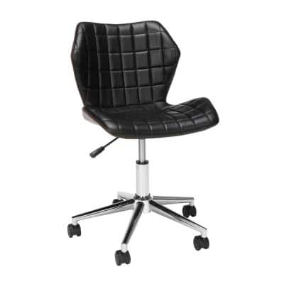 Essentials Collection Black Bonded Leather Task Chair, Office Chair (ESS-6006-MAH-BLK)