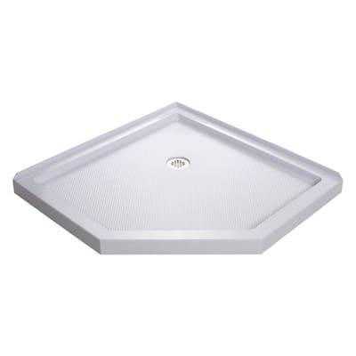 SlimLine 40 in. x 40 in. Neo-Angle Shower Base in White
