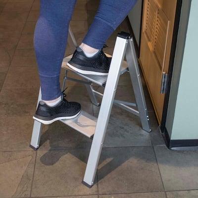 2-Step Aluminum Ultra Slim Folding Utility Step Stool