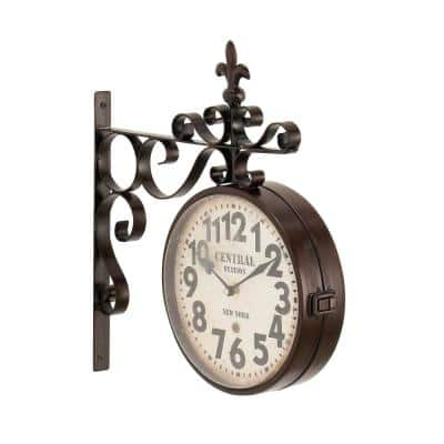 Multi-Colored Rustic Double-Sided Wall Clock