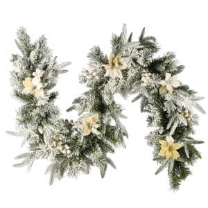 6 ft. Frosted Colonial Artificial Christmas Fir Garland