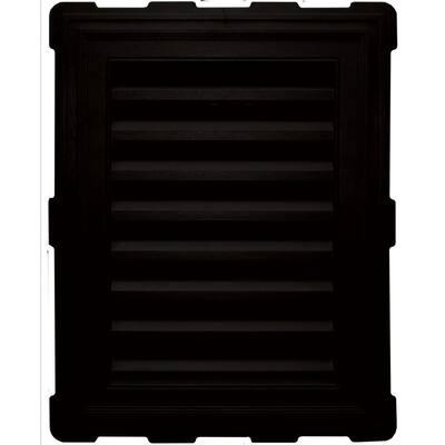 20.2 in. x 26.2 in. Rectangular Black Plastic Built-in Screen Gable Louver Vent