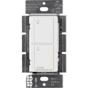 Caseta Smart Switch for All Bulb Types or Fans, 5A, White