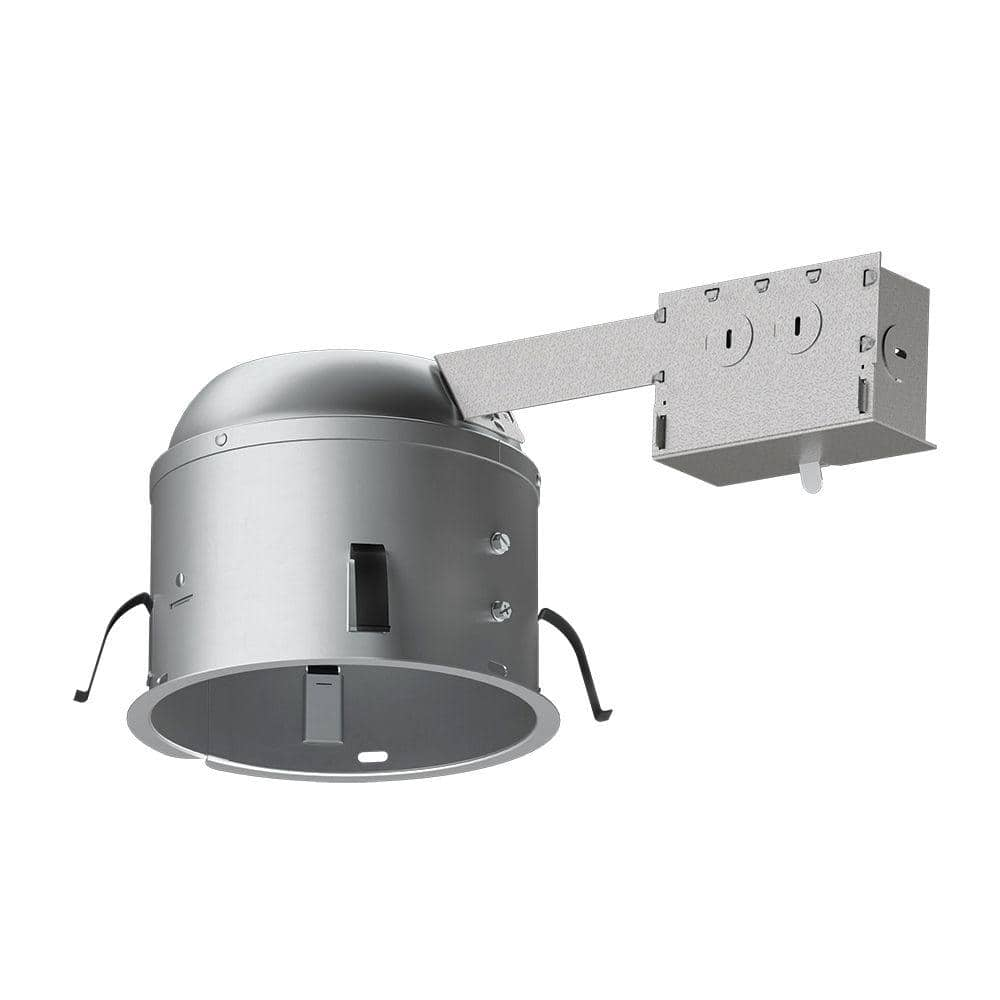 halo h2750 6 in aluminum led recessed lighting housing for remodel shallow ceiling t24 insulation contact air tite h2750ricat the home depot