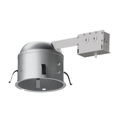 H2750 6 in. Aluminum LED Recessed Lighting Housing for Remodel Shallow Ceiling, T24, Insulation Contact, Air-Tite