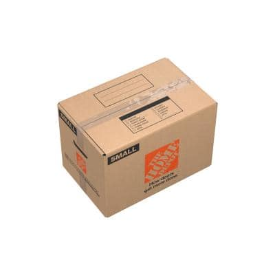 (17 in. L x 11 in. W x 11 in. D Small Moving Box with Handles