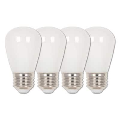 15-Watt Equivalent S14 Frosted LED Light Bulb Soft White (4-Pack)