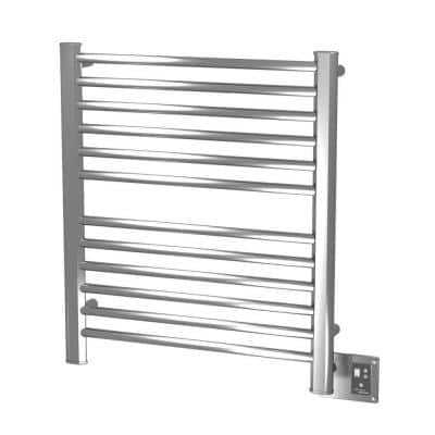 Sirio S-2933 12-Bar Hardwired Electric Towel Warmer in Brushed Stainless Steel