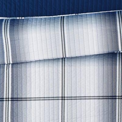 Nolan Houndstooth Stripe Quilt Set