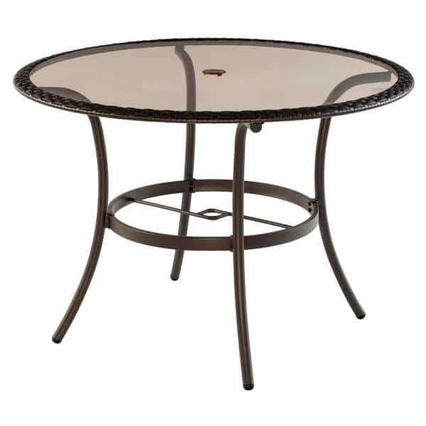 Stylewell 42 In Mix And Match Round, Round Glass Patio Table