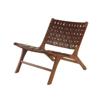 Litton Lane Brown Wood Contemporary Accent Chair