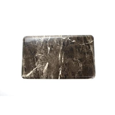 "Anti Fatigue 16.5"" x 27"" Grey Marble Foam Durable and Waterproof Comfort Floor, Kitchen, and Standing Mat"