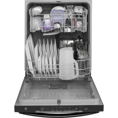 24 in. Black Top Control Built-In Tall Tub Dishwasher 120-Volt with Steam Cleaning and 50 dBA
