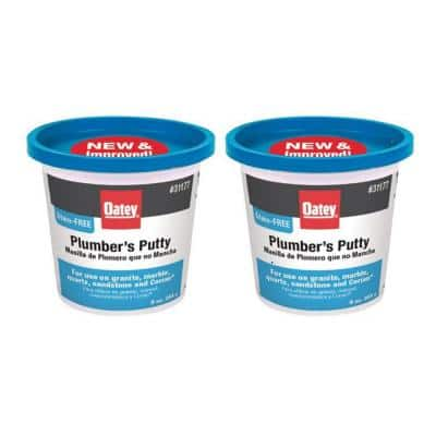9 oz. Stain-Free Plumber's Putty (2-Pack)