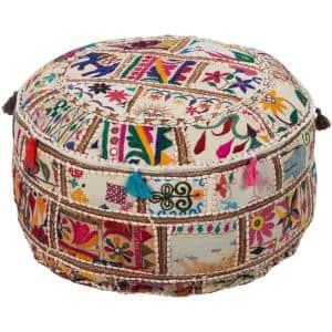 Siena Multi-Color Accent Pouf Ottoman