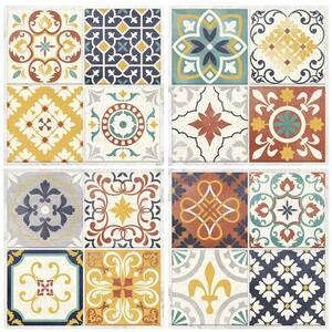 10.5 in x 10.5 in Spanish Terracotta Tile Peel and Stick Backsplash