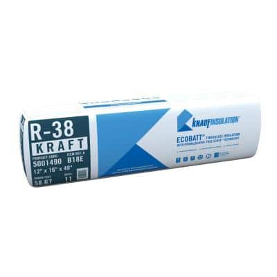 R-38 EcoBatt Kraft Faced Fiberglass Insulation Batt 12 in. x 16 in. x 48 in.