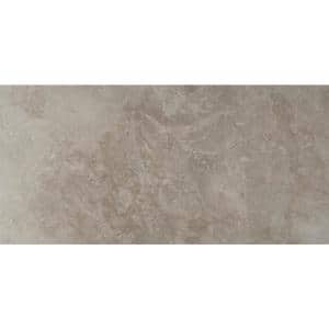 Ansello Grey 12 in. x 24 in. Matte Ceramic Floor and Wall Tile (16 sq. ft./Case)