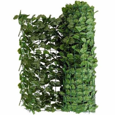 59 in. x 95 in. Faux Ivy Leaf Garden Decorative Fence Artificial Hedge Fencing