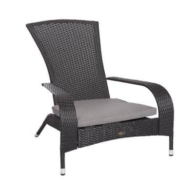 Wrought Iron Wicker Patio Furniture Outdoors The Home Depot