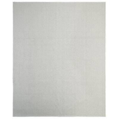 Montauk Silver 9 ft. x 12 ft. Solid Indoor/Outdoor Area Rug