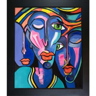 """""""Picasso by Nora II Reproduction with New Age Black Frame"""" by Nora Shepley Canvas Print"""