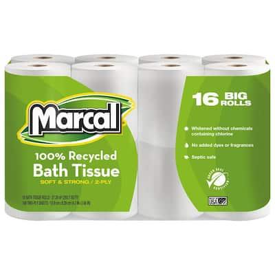 Recycled Bath Tissue 2-Ply (96 Rolls)