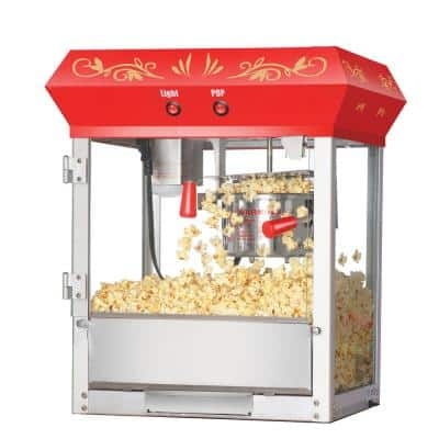 6106 Great 6 Oz. Northern Popcorn Red Foundation Top Popcorn Popper Machine