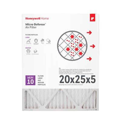20 x 25 x 5 Pleated MERV 10 - FPR 8 Air Filter (2-Pack)
