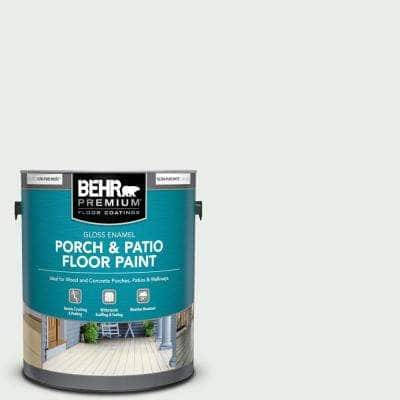 1 gal. #W-F-510 Silver Sky Gloss Enamel Interior/Exterior Porch and Patio Floor Paint