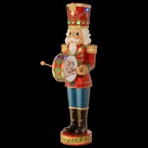 60 in. Nutcracker with Moving Hands with 15 LED Lights, Christmas Music and Timer