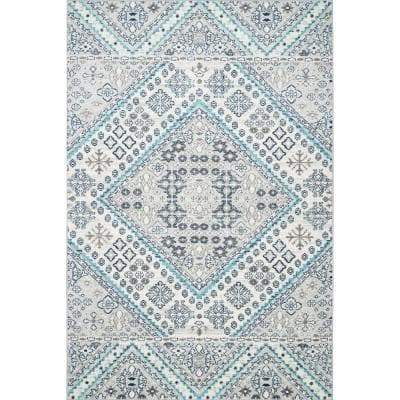 Nuloom Odile Transitional Gray 5 Ft X 8 Ft Area Rug Sfim02a 508 The Home Depot