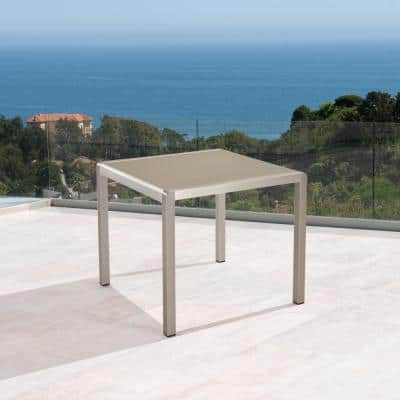 Cape Coral Silver Square Anodized Aluminum Outdoor Dining Table