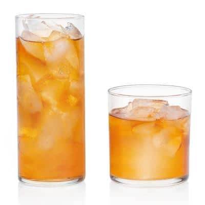 Miles 16 oz. 16-Piece Glass Drinkware Set