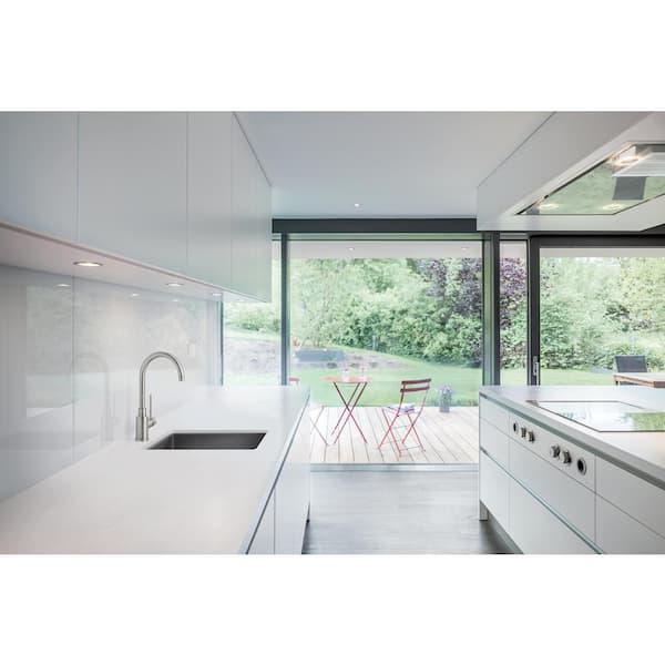 Blanco Precis Silgranit Slate Granite Composite 14 In Undermount Bar Sink 519048 The Home Depot