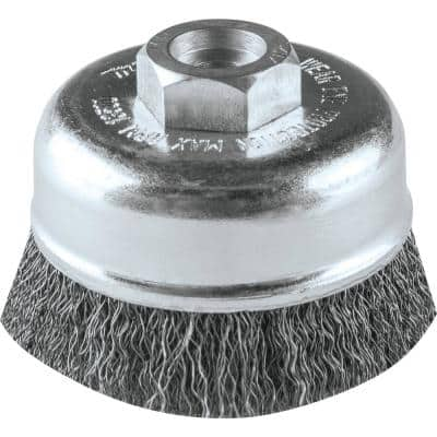 M10 x 1.25 in. x 3 in. Crimped Wire Cup Brush