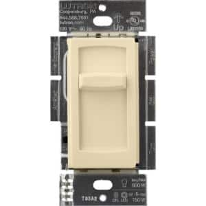 Skylark Contour Slide LED+ Dimmer Switch for Dimmable LED, Incandescent and Halogen Bulbs, Single-Pole, Ivory