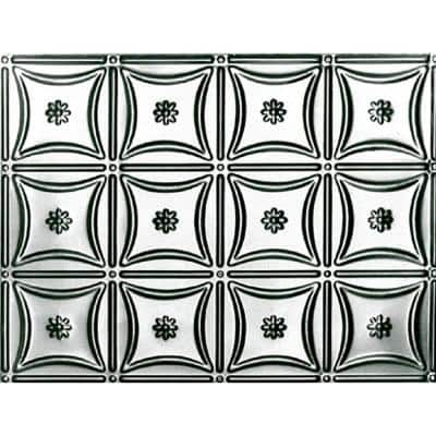 1-1/2 ft. x 4 ft. Glue Up or Nail Up Tin Ceiling Tile in Stainless Steel (24 sq. ft./case)