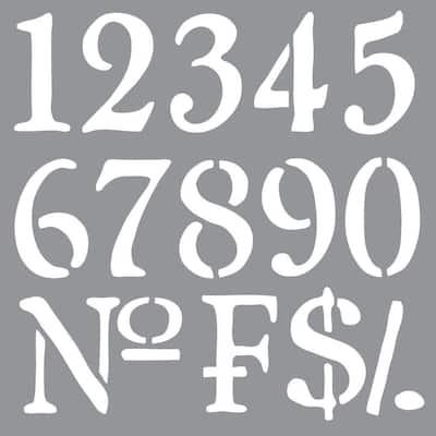 Americana Decor Olde World Numbers Stencil