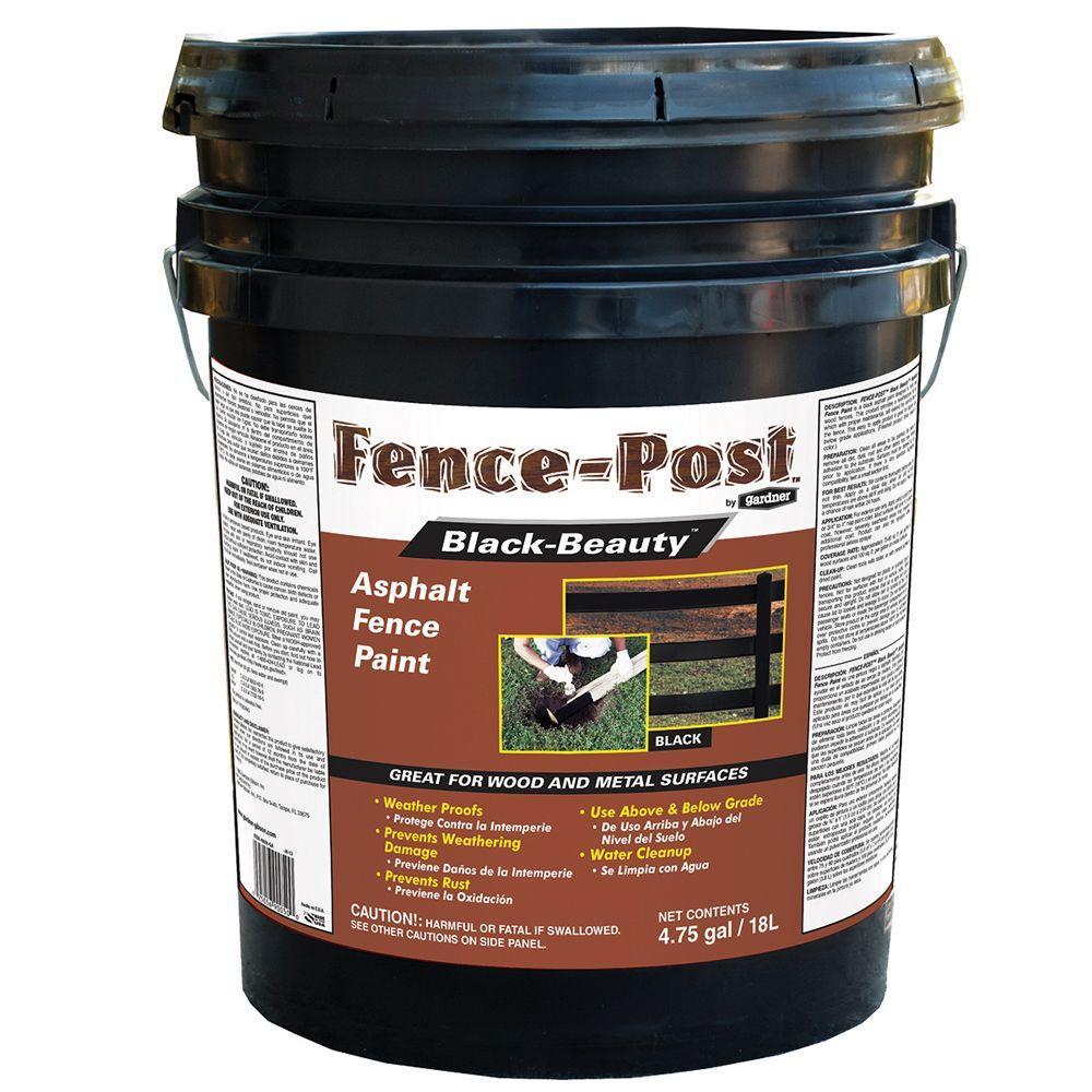 4.75 Gal. Black Beauty Asphalt Fence Paint