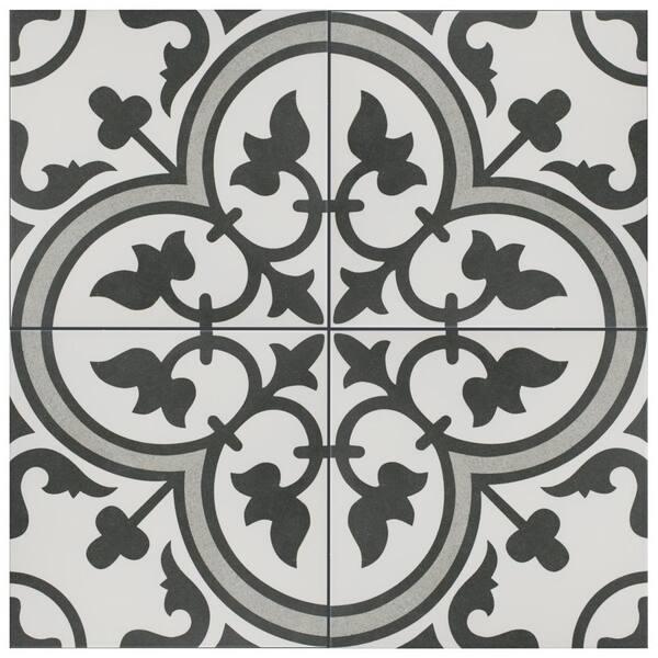 Merola Tile Take Home Sample Arte Grey 9 3 4 In X Porcelain S1fcd10arg The Depot