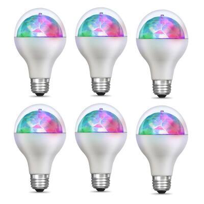 5-Watt E26 Medium Base Multi Color Rotating Disco Party LED Light Bulb (6-Pack)
