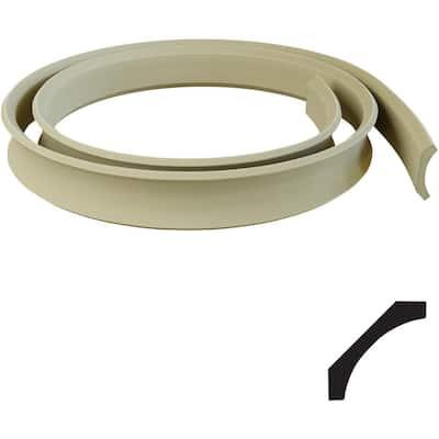 1 1/2 in. x 144 in. x 6 in. Resin Crown Flexible Moulding