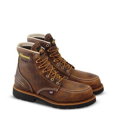 The 1957 Series Men's Waterproof 6 in. Work Boot, Steel Toe Crazyhorse Leather