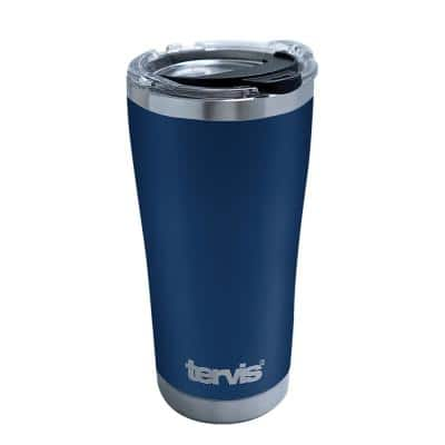 Navy Powder Coat 20 oz. Stainless Steel Travel Mugs Tumbler with Lid