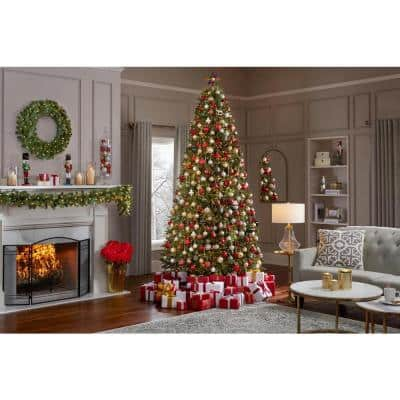 9 ft Jackson Noble Fir Pre-Lit LED Artificial Christmas Tree with 1500 Color Changing Micro Dot Lights