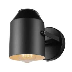 Greyson 1-Light Matte Black Plug-In or Hardwire Wall Sconce